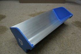 "Aluminium Coating Trough with Plastic ""clip-on"" ends"