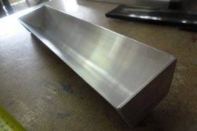 Aluminium Coating Trough with welded aluminium ends