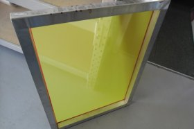 590mm x 750mm 2nd Hand Frame with New Yellow Mesh