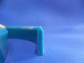 Watts Squeegee 25mmx5mm 85 Shore V-Profile Blue (per 1cm)