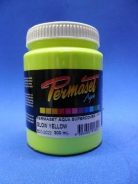 Permaset Aqua Super Cover Glow (Fluro) Yellow